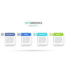 infographic design with icons and 4 options or vector image