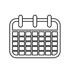 Isolated calendar symbol vector