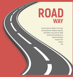 isolated roadway flat vector image