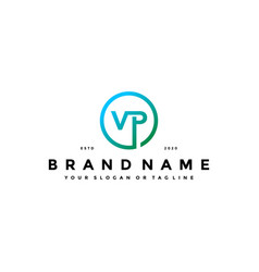 Letter vp logo design vector