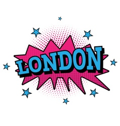 London Comic Text in Pop Art Style vector