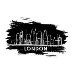 london skyline silhouette hand drawn sketch vector image