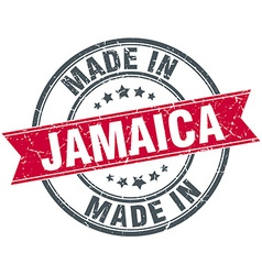 Made in Jamaica red round vintage stamp vector