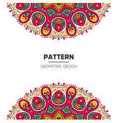 Mandala background design vector