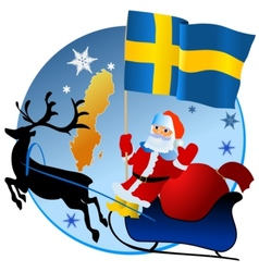 Merry Christmas Sweden vector image