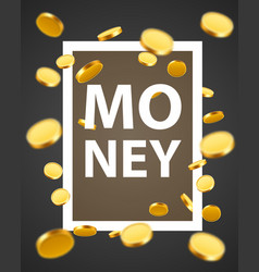 money design elements frame with golden coins vector image