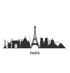 paris skyline silhouette vector image