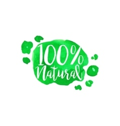 Percent Natural Fresh Products Promo Sign vector image