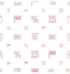 price icons pattern seamless white background vector image