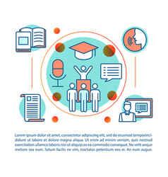 Public speaking skill course article page template vector