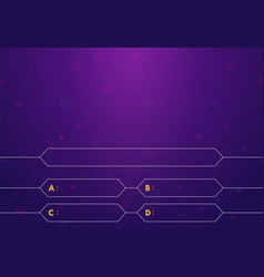 Quiz game background vector