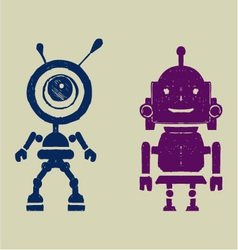 Robot silhouettest vector