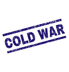 Scratched textured cold war stamp seal vector