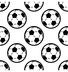 Seamless background pattern of footballs vector image