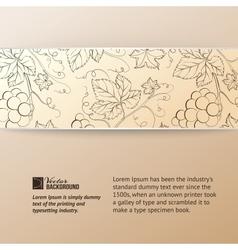 Sepia vine label vector image