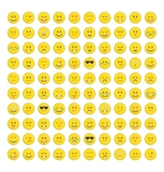 set emoticons icon vector image