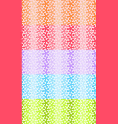 set of seamless patterns with gradient colored vector image
