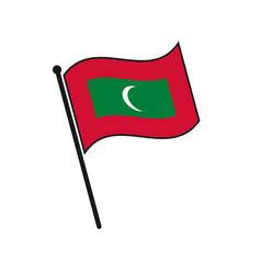 Simple flag isolated vector