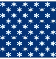 Snowflakes blue Christmas wrapping vector