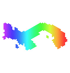 Spectrum hexagon panama map vector