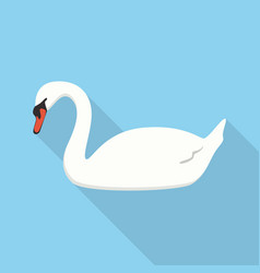 swan icon set of great flat icons design vector image