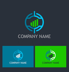 target business finance company logo vector image