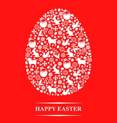 texture egg red vector image