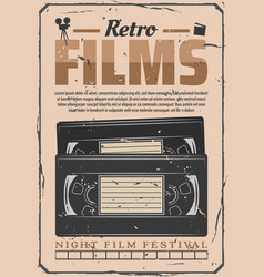Vhs video retro films digitization vector