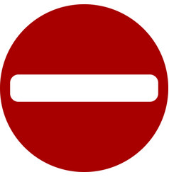 warning sign do not enter black red sign do not vector image