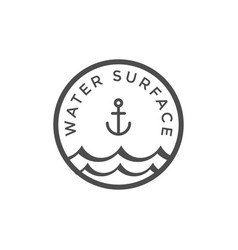 water surface graphic design template vector image