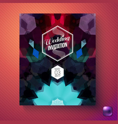 Wedding invitation greeting card with text vector