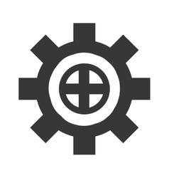 wheel cog industry industrial icon gear vector image vector image
