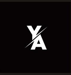 Ya logo letter monogram slash with modern logo vector