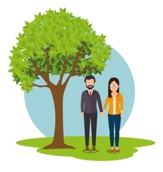 Young people relationship vector