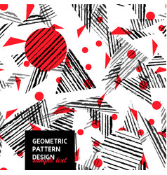 abstract art stripped geometric seamless pattern vector image vector image