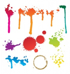 colorful stain vector image vector image