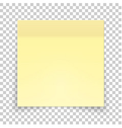 sticky piece of yellow paper sticker note for vector image
