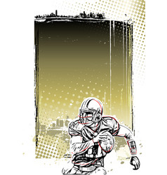 american football poster background vector image vector image