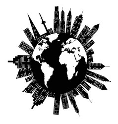 buildings around the world vector image