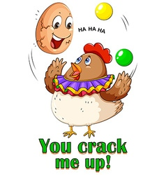 Cracking egg vector image vector image