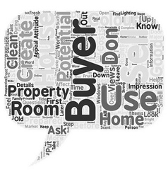 Sell a house in the first seconds text background vector