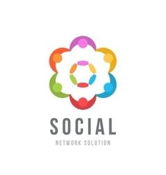 Social network concept Logo design template vector image