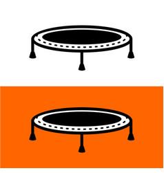 Trampoline for jumping simple black symbol vector
