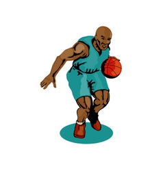 Basketball Player Dribbling vector image vector image