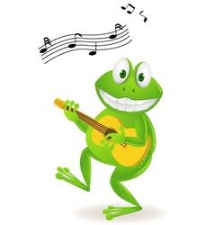 frog playing music vector image