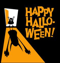 happy halloween zombie with shadow vector image vector image