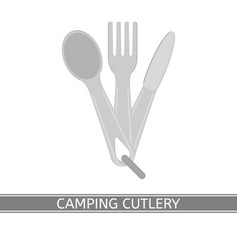 camping cutlery isolated vector image vector image
