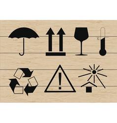 Packing symbols set vector image