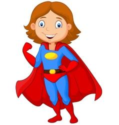 Superhero girl vector image vector image