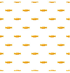 sweet candy in yellow wrap pattern vector image